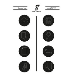 Service line icons set vector