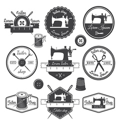 Set of vintage tailor labels vector