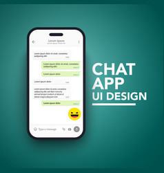 smartphonemobile chat app ui and ux concept theme vector image