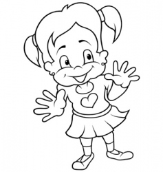 smiling girl vector image