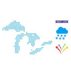 Snowflake great lakes map vector