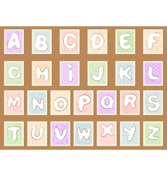 stamp alphabet vector image