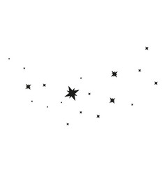 stars on a white background black star shooting vector image