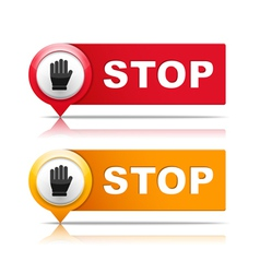Stop vector image vector image