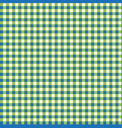 tablecloth background blue white and yellow vector image