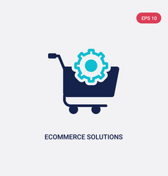 Two color ecommerce solutions icon from general-1 vector
