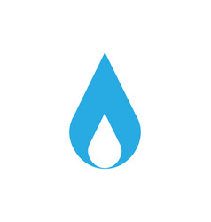 water drop logo design element isolated on white vector image