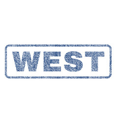 West textile stamp vector