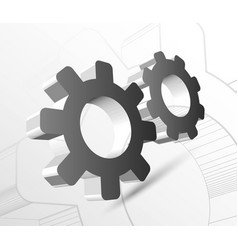 gear with drawing vector image