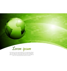 Green colourful tech background vector image