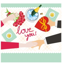 hands love you vector image vector image