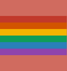 lgbt rainbow flag vector image