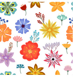 summer tropical flowers vector image