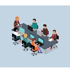 Teamwork 3d Isometric Business Team vector image