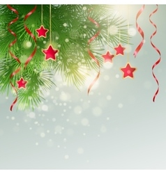 Xmas background with Christmas decoration vector image vector image