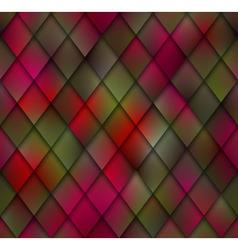 Abstract Green Red Mosaic Seamless Pattern Shadows vector image vector image