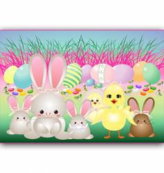 easter babies vector image vector image