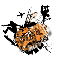 grunge urban poster vector image
