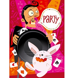 Invitation to a party vector image