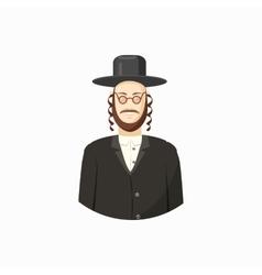 Jew man icon cartoon style vector image