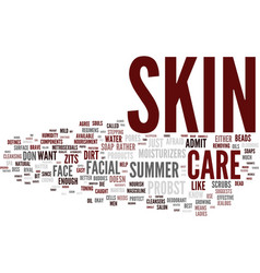 masculine skin care for the summer text vector image