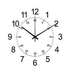 wall clock isolate on white vector image vector image