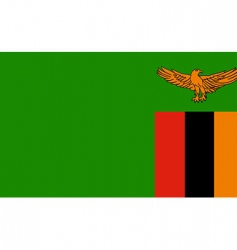 zambia flag vector image vector image