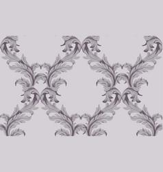 baroque pattern background vintage vector image