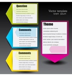 Colorful paper arrows for text vector image