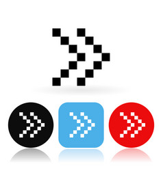 dotted arrow icons vector image