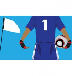 goal keeper vector image vector image