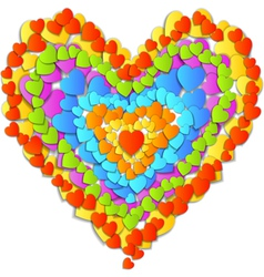 Valentines Day Card with beautiful Rainbow heart vector image