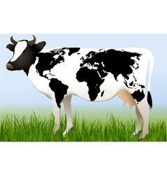 World cow vector image