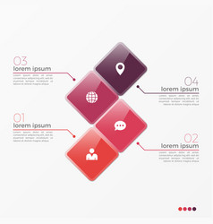 4 option infographic template with squares vector image