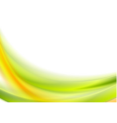 abstract bright green and orange wavy background vector image vector image