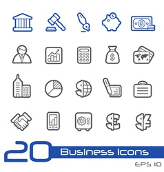 Business Finance Outline Series vector image vector image