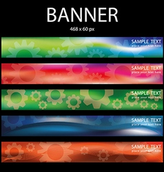 colorful wheel banner vector image