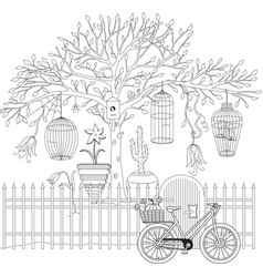 coloring book for adult and older children vector image vector image