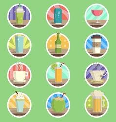 Drink Menu Flat Icon vector image