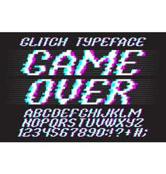 glitched typeface 01 vector image