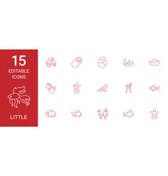 15 little icons vector