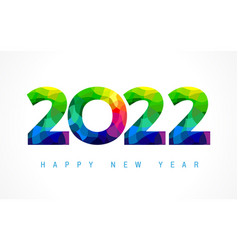 2022 happy new year colored card design vector