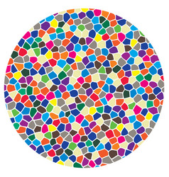 Abstract colorful mosaic round pattern vector