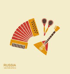 Accordion spoons and balalaika russian musical vector