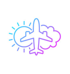 Aeronautical meteorology gradient linear icon vector