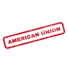 American Union Text Rubber Stamp vector