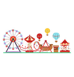 amusement park isolated on vector image