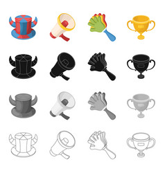 attributes symbols sport and other web icon in vector image