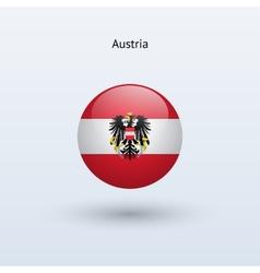 Austria round flag vector
