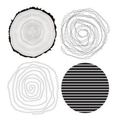 black abstract patterns on a white background vector image vector image